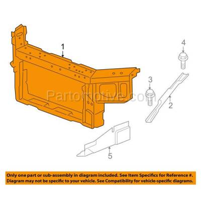 Aftermarket Replacement - RSP-1271 2012 2013 Chevrolet Impala & 2014-2016 Chevy Impala Limited (3.6L) Front Radiator Support Core Assembly Primed Made of Steel - Image 3