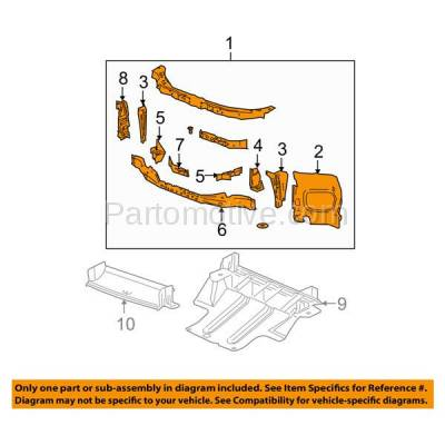 Aftermarket Replacement - RSP-1245 2004-2012 Chevrolet Colorado & GMC Canyon Pickup Truck Front Center Radiator Support Core Assembly Primed Made of Steel - Image 3