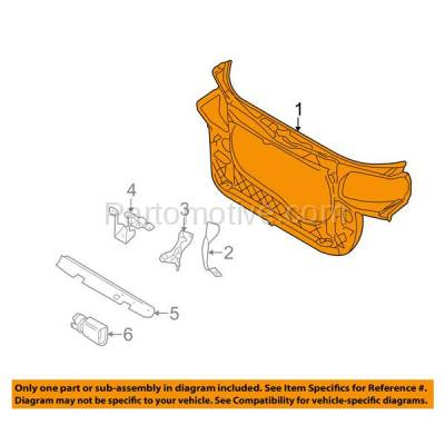 Aftermarket Replacement - RSP-1016 2005-2009 Audi A4/A4 Quattro (Convertible, Sedan, Wagon) 2.0L Front Center Radiator Support Core Assembly Primed Made of Plastic & Steel - Image 3
