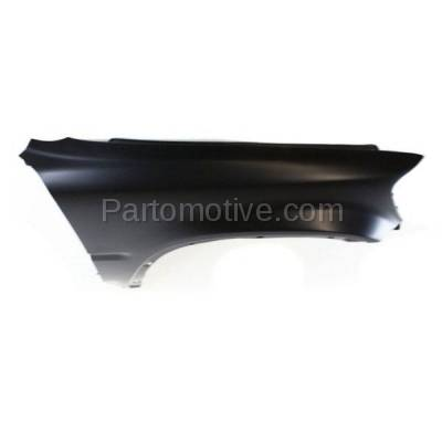 Aftermarket Replacement - FDR-1188R 1997-2001 Honda CR-V (2.0L) Front Fender Quarter Panel without Side Light Holes (with Molding Holes) Primed Steel Right Passenger Side - Image 3