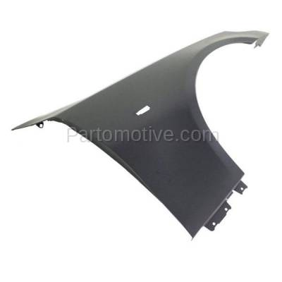 Aftermarket Replacement - FDR-1024R 2004-2010 BMW 5-Series (Sedan & Wagon) Front Fender Quarter Panel (without Molding Holes) Primed Steel Right Passenger Side - Image 2