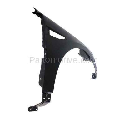 Aftermarket Replacement - FDR-1747R 2010-2019 Ford Taurus & Police Interceptor Front Fender Quarter Panel (without Molding Holes) Primed Steel Right Passenger Side - Image 3