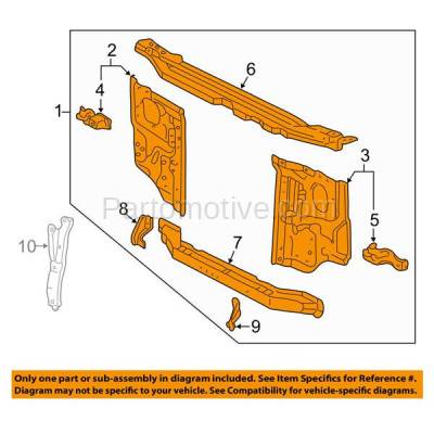 Aftermarket Replacement - RSP-1805 1997-2000 Toyota Tacoma Truck (DLX, Limited, Pre Runner, SR5) Front Center Radiator Support Core Assembly Primed Made of Steel - Image 3