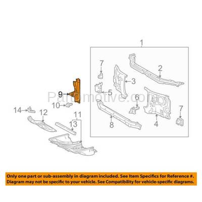 Aftermarket Replacement - RSP-1810 2000-2006 Toyota Tundra Pickup Truck (Base, Limited, SR5) Regular/Access Cab Front Radiator Support Center Hood Latch Support Steel - Image 3