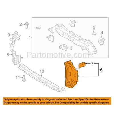 Aftermarket Replacement - RSP-1826R 2012-2014 Toyota Yaris (CE, L, LE, SE) Hatchback 1.5L (Japan Built) Front Radiator Support Bracket Brace Panel Steel Right Passenger Side - Image 3