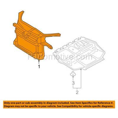Aftermarket Replacement - RSP-1844 2005-2010 Volkswagen Jetta (Sedan 4-Door) (2.5 Liter Engine) Front Center Radiator Support Core Assembly Primed Made of Plastic - Image 3