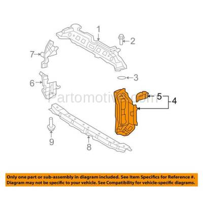Aftermarket Replacement - RSP-1820L 2007-2008 Toyota Yaris (Base, CE, LE, RS, S) 1.5L Front Radiator Support Side Bracket Brace Panel Made of Steel Left Driver Side - Image 3