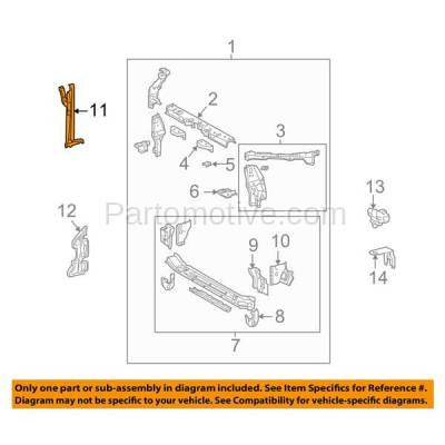 Aftermarket Replacement - RSP-1864 2009-2013 Toyota Corolla Sedan (Japan or North America Built) Front Radiator Support Center Hood Latch Lock Support Bracket Steel - Image 3
