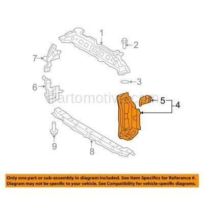 Aftermarket Replacement - RSP-1819L 2008-2014 Scion xD & 2009-2011 Toyota Yaris (1.5 & 1.8 Liter Engine) Front Radiator Support Side Bracket Panel Steel Left Driver Side - Image 3