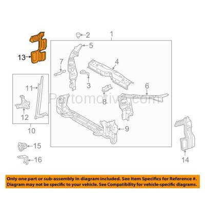 Aftermarket Replacement - RSP-1747R 2014-2016 Toyota Corolla (1.8 Liter Engine) Front Outer Radiator Support Side Air Deflector Bracket Panel Primed Plastic Right Passenger Side - Image 3