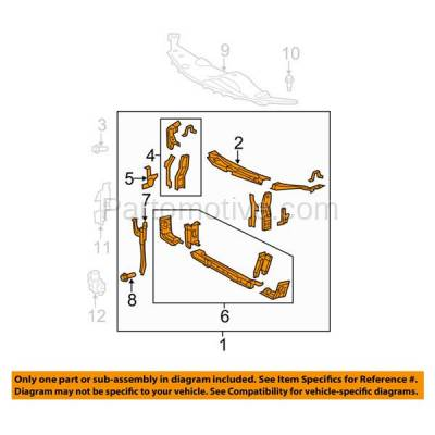 Aftermarket Replacement - RSP-1735 2007-2011 Toyota Camry (Base, CE, LE, SE, XLE) Sedan (Except Hybrid) Front Center Radiator Support Core Assembly Primed Steel - Image 3