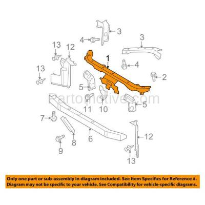 Aftermarket Replacement - RSP-1649 2007-2012 Nissan Versa (1.6, 1.6 Base, 1.8 S, 1.8 SL, S, SL) Front Radiator Support Upper Crossmember Tie Bar Panel Primed Steel - Image 3
