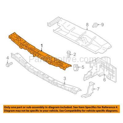 Aftermarket Replacement - RSP-1651 2012-2018 Nissan Versa (S, S Plus, SL, SV) Sedan 4-Door (1.6 Liter Engine) Front Radiator Support Upper Crossmember Tie Bar Steel - Image 3