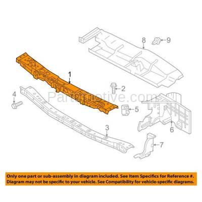 Aftermarket Replacement - RSP-1654 2014-2018 Nissan Versa Note 1.6L (S, S Plus, SL, SR, SV) Front Center Radiator Support Upper Crossmember Tie Bar Steel - Image 3