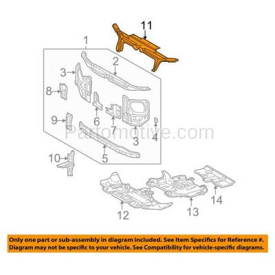 Aftermarket Replacement - RSP-1715 2003-2009 Toyota 4Runner (Limited, Sport, SR5) 4.0L/4.7L Front Radiator Support Upper Tie Bar Seal Cover Primed Made of Plastic - Image 3