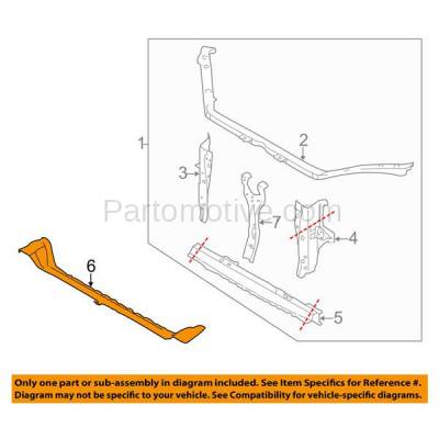 Aftermarket Replacement - RSP-1683 2008-2016 Subaru Impreza & 2009-2018 Forester & 2013-2017 XV Crosstrek & 2013-2018 WRX Radiator Support Outer Lower Crossmember Tie Bar - Image 3