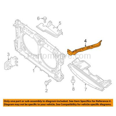 Aftermarket Replacement - RSP-1591L 2007-2009 Nissan Altima & 2009-2014 Maxima Front Radiator Support Side Bracket Brace Panel Primed Made of Steel Left Driver Side - Image 3