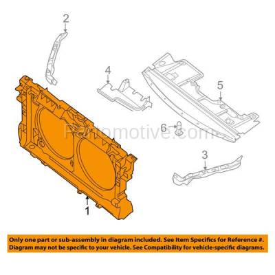 Aftermarket Replacement - RSP-1592 2008-2009 Nissan Altima (Base, Hybrid, S, SE, SL) Coupe & Sedan Front Center Radiator Support Core Assembly Primed Made of Plastic - Image 3