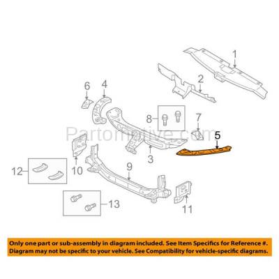 Aftermarket Replacement - RSP-1581L 2010-2013 Mitsubishi Outlander (ES, GT, LS, SE, XLS) Front Radiator Support Upper Side Brace Bracket Panel Steel Left Driver Side - Image 3