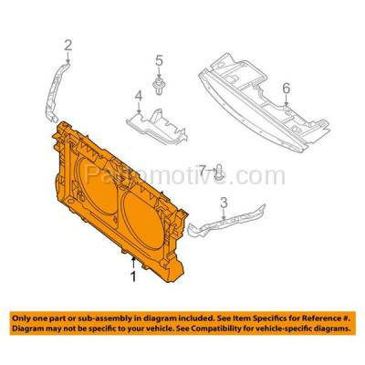 Aftermarket Replacement - RSP-1590 2007-2008 Nissan Altima (Base, Hybrid, S, SE, SL) 2.5L/3.5L (Coupe & Sedan) Front Radiator Support Core Assembly Primed Plastic - Image 3