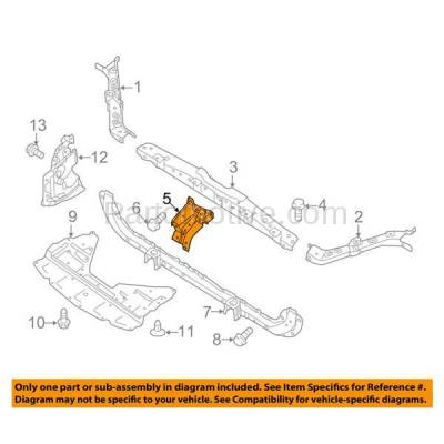 Aftermarket Replacement - RSP-1630 2014-2018 Nissan Rouge (S, SL, SV) 2.5L (Models Made In Japan, Korea or USA) Radiator Support Center Hood Latch Lock Support Bracket - Image 3