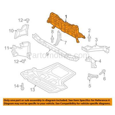 Aftermarket Replacement - RSP-1620 2013-2017 Nissan NV200 (S, SV, Taxi) Cargo/Passenger Van 4-Door (2.0L) Radiator Support Upper Crossmember Tie Bar Primed Steel - Image 3