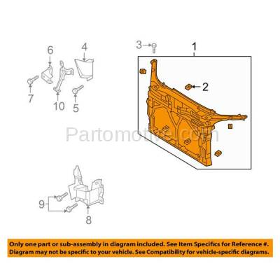 Aftermarket Replacement - RSP-1486 2004-2009 Mazda 3 (GS, GT, GX, i, Mazdaspeed, S, SP23) Hatchback & Sedan Front Radiator Support Core Assembly Primed Plastic - Image 3