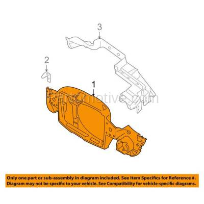 Aftermarket Replacement - RSP-1553 2002-2008 Mini Cooper (Convertible & Hatchback 2-Door) (1.6 Liter Engine) Front Center Radiator Support Core Assembly Primed Plastic - Image 3