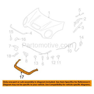 Aftermarket Replacement - RSP-1556 2007-2015 Mini Cooper (1.5 & 1.6 & 2.0 Liter Engine) Front Radiator Support Upper Crossmember Tie Bar Panel Primed Made of Steel - Image 3