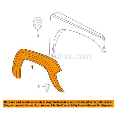 Aftermarket Replacement - FDF-1018R 05-07 Liberty Front Fender Flare Wheel Opening Molding Trim Right Passenger Side - Image 3