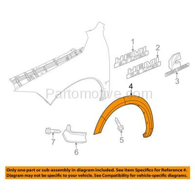 Aftermarket Replacement - FDF-1024L 10-17 Ram Truck Front Fender Flare Wheel Opening Molding Trim Left Driver Side - Image 3