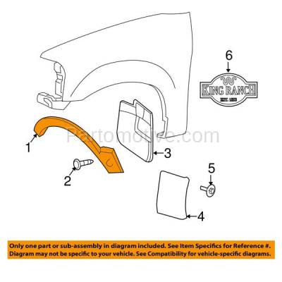 Aftermarket Replacement - FDF-1038L 07-14 Expedition Front Fender Flare Wheel Opening Molding Trim Left Driver Side - Image 3