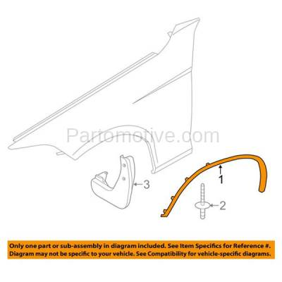 Aftermarket Replacement - FDF-1005L 12-15 X1 Front Fender Flare Wheel Opening Molding Trim Arch Left Driver Side NEW - Image 3