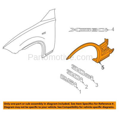 Aftermarket Replacement - FDF-1006L 07-10 X3 Front Fender Flare Wheel Opening Molding Trim Arch Left Driver Side NEW - Image 3
