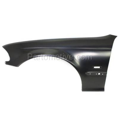 Aftermarket Replacement - FDR-1011LC CAPA 1999-2001 BMW 3-Series (Sedan & Wagon) Front Fender Quarter Panel (with Turn Signal Light Hole) Primed Steel Left Driver Side - Image 1