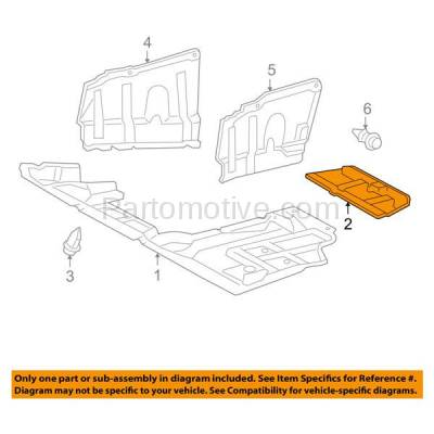 Aftermarket Replacement - ESS-1618 06-12 RAV4 & 08 xB Rear Engine Splash Shield Under Cover TO1228140 514420R010 - Image 3