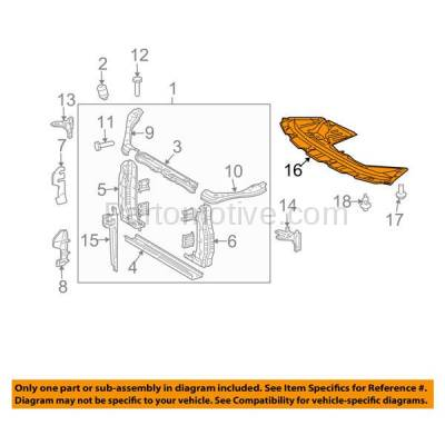 Aftermarket Replacement - ESS-1630 07-10 Sienna Front Engine Splash Shield Under Cover Guard TO1228144 5144108020 - Image 3