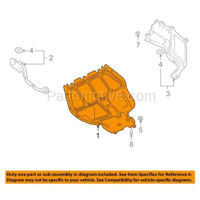 Aftermarket Replacement - ESS-1658 99-06 Golf Diesel Front Engine Splash Shield Under Cover Manual Trans. VW1228106 - Image 3