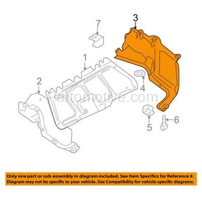 Aftermarket Replacement - ESS-1653L 98-07 Beetle Front Engine Splash Shield Under Cover Guard Driver Side VW1228124 - Image 3