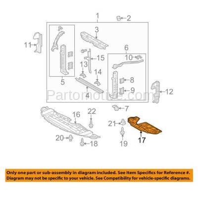 Aftermarket Replacement - ESS-1622 10-13 Highlander & 11-13 Sienna Rear Engine Splash Shield Under Cover TO1228179 - Image 3