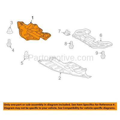 Aftermarket Replacement - ESS-1614R 2009-2016 Toyota Venza (AWD, Base. LE, Limited, V6, XLE) Front (Front Section) Engine Under Cover Splash Shield Plastic Right Passenger Side - Image 3