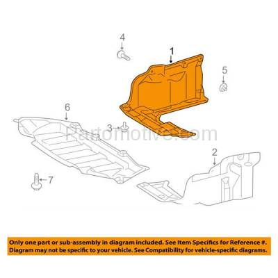 Aftermarket Replacement - ESS-1636R 09-14 Matrix Front Engine Splash Shield Under Cover Cover Right Side TO1228151 - Image 3
