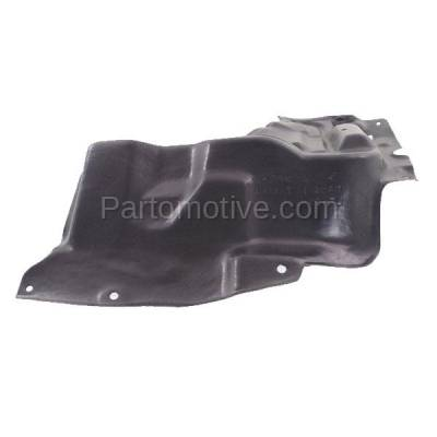 Aftermarket Replacement - ESS-1591L 2014-2019 Toyota Corolla 1.8L (with Manual Transmission) Front Engine Under Cover Splash Shield Undercar Guard Plastic Left Driver Side - Image 2