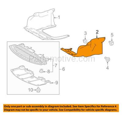 Aftermarket Replacement - ESS-1592L 2014-2019 Toyota Corolla 1.8L (with Automatic CVT Transmission) Front Engine Under Cover Splash Shield Undercar Guard Left Driver Side - Image 3