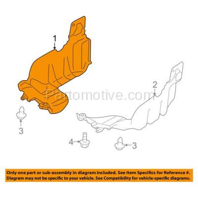 Aftermarket Replacement - ESS-1561R 09-13 Forester Engine Splash Shield Under Cover w/o Turbo Right Side SU1228103 - Image 3