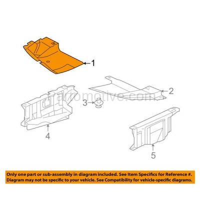 Aftermarket Replacement - ESS-1504R 04-12 Galant Front Engine Splash Shield Under Cover RH Passenger Side 6405A177 - Image 3