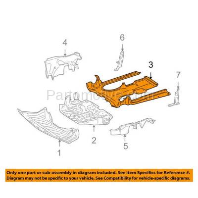 Aftermarket Replacement - ESS-1442 07-14 CL-Class Rear Engine Splash Shield Under Cover Guard MB1228153 2215242830 - Image 3