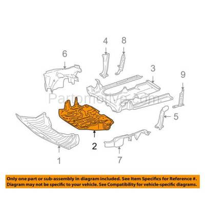 Aftermarket Replacement - ESS-1443 08-10 CL63 & S63 AMG Engine Splash Shield Under Cover Guard MB1228152 2215242930 - Image 3
