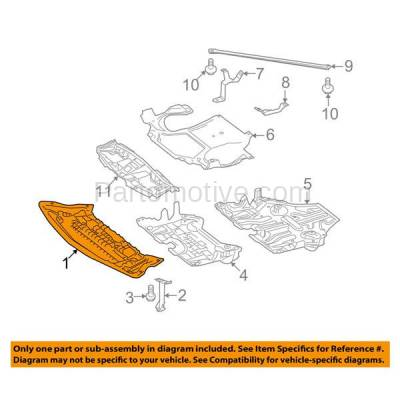 Aftermarket Replacement - ESS-1478 10-13 E-Class RWD Front Engine Splash Shield Under Cover w/o AMG Pkge 2125202323 - Image 3