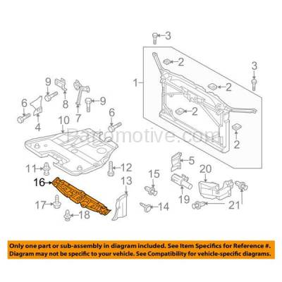 Aftermarket Replacement - ESS-1422 06-10 Mazda5 Front Engine Splash Shield Under Cover Undercar MA1228111 C23556112 - Image 3